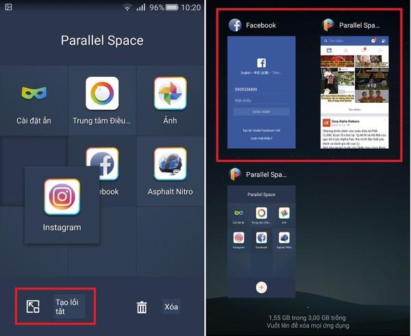 di động v24h Cách dùng nhiều tài khoản Facebook, Zalo... trên cùng một máy cực đơn giản ảnh 6