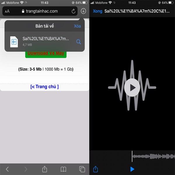 di động v24h Hướng dẫn tải nhạc và video trên mạng về iPhone trực tiếp đơn giản nhất ảnh 10