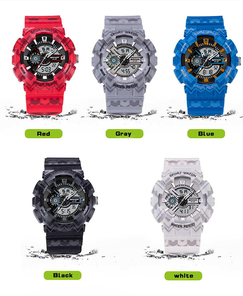 color show sanda 999 sport watch