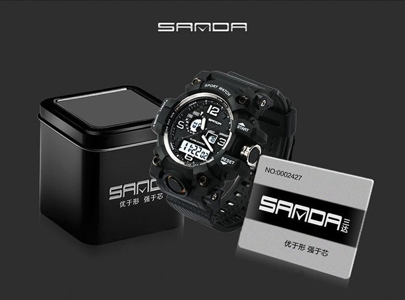 sanda 742 men sport watch original water resist