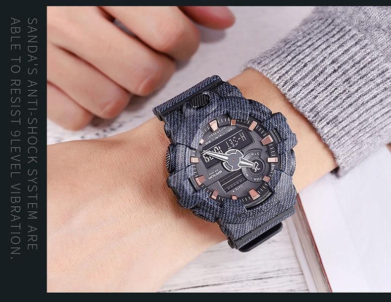 đồng hồ điện tử thể thao chống nước giá rẻ SANDA Sport watch