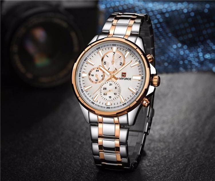 đồng hồ naviforce chính hãng nf9089 dây kim loại cao cấp