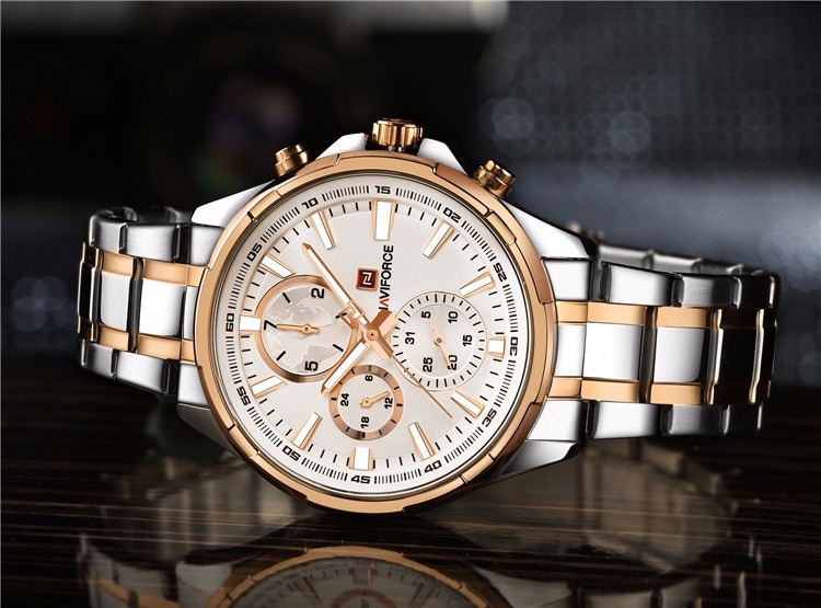đồng hồ nam 6 kim naviforce chính hãng nf9089 dây kim loại cao cấp giá rẻ (Heo Con Store)