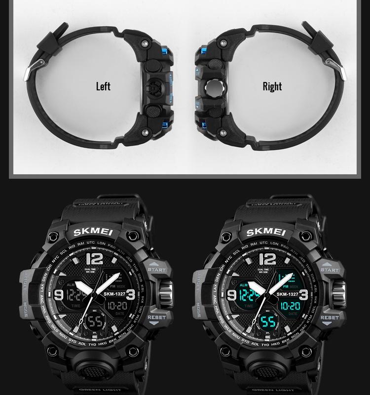 Skmei 1327 sport watch dual time men watch