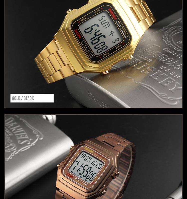 đồng hồ skmei dây kim loại 1337 chính hãng chống nước điện tử