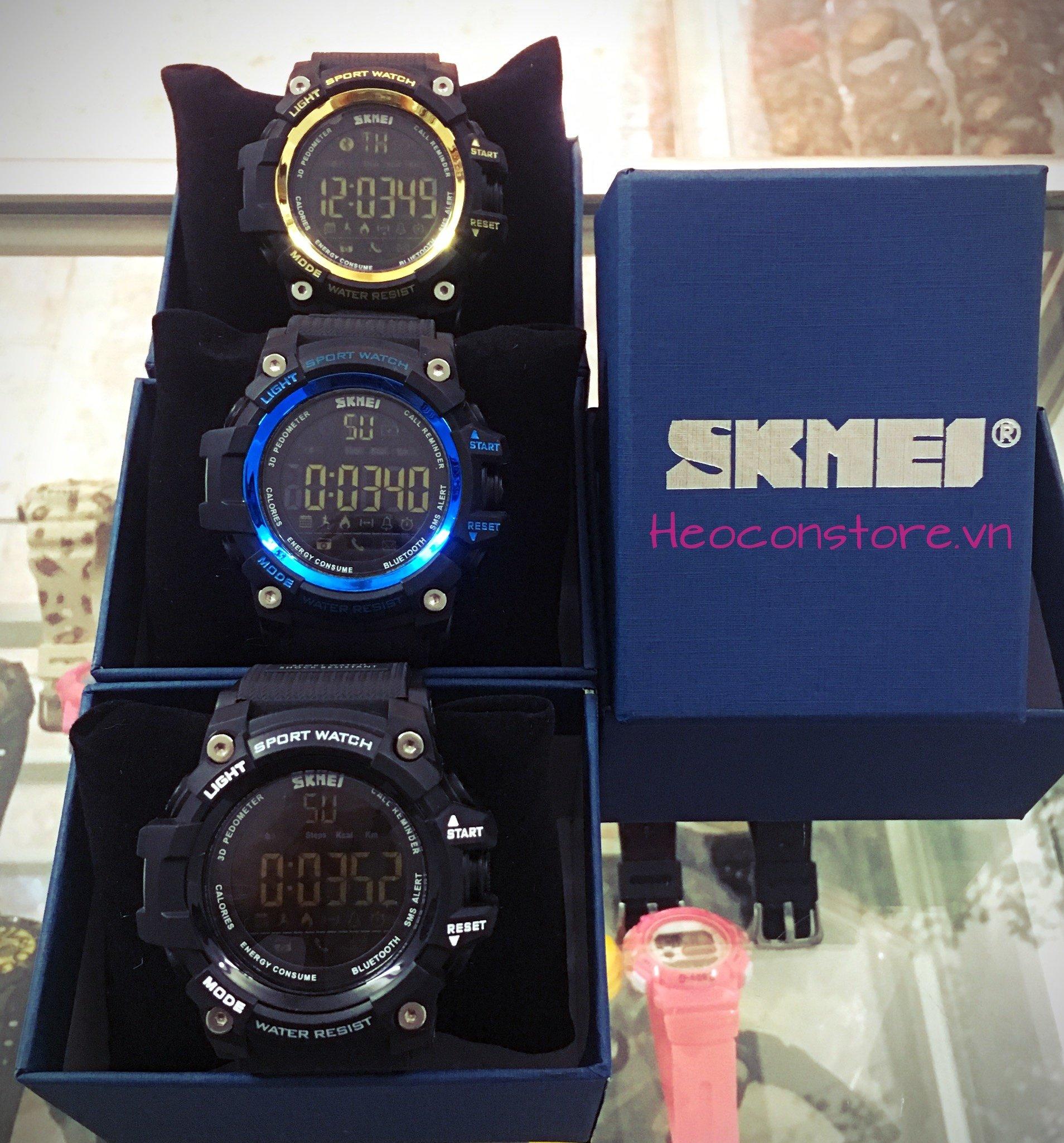 Đồng hồ smart watch thông minh skmei 1227 điện tử chính hãng chống nước