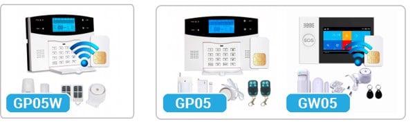 So sánh 2 bộ thiết bị chống trộm GP05W với GP05 và GW05 báo trộm qua điện thoại