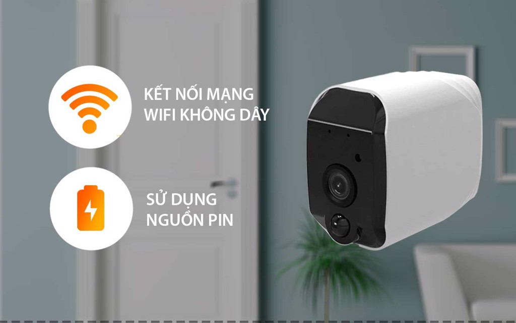 Camera IP Wifi Dùng Pin SmartZ B52 Full HD 1080P Lắp Đặt Không Dây