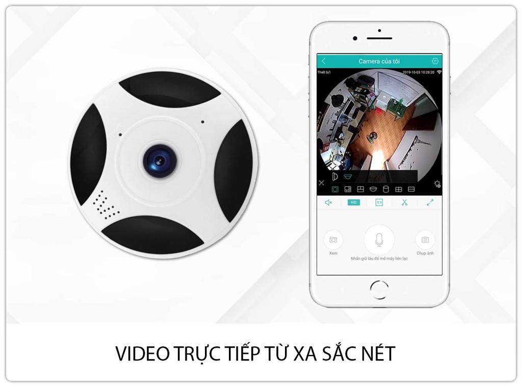 Camera Giám Sát 360 Toàn Cảnh Gắn Trần SmartZ SCR3603 IP Wifi Full HD