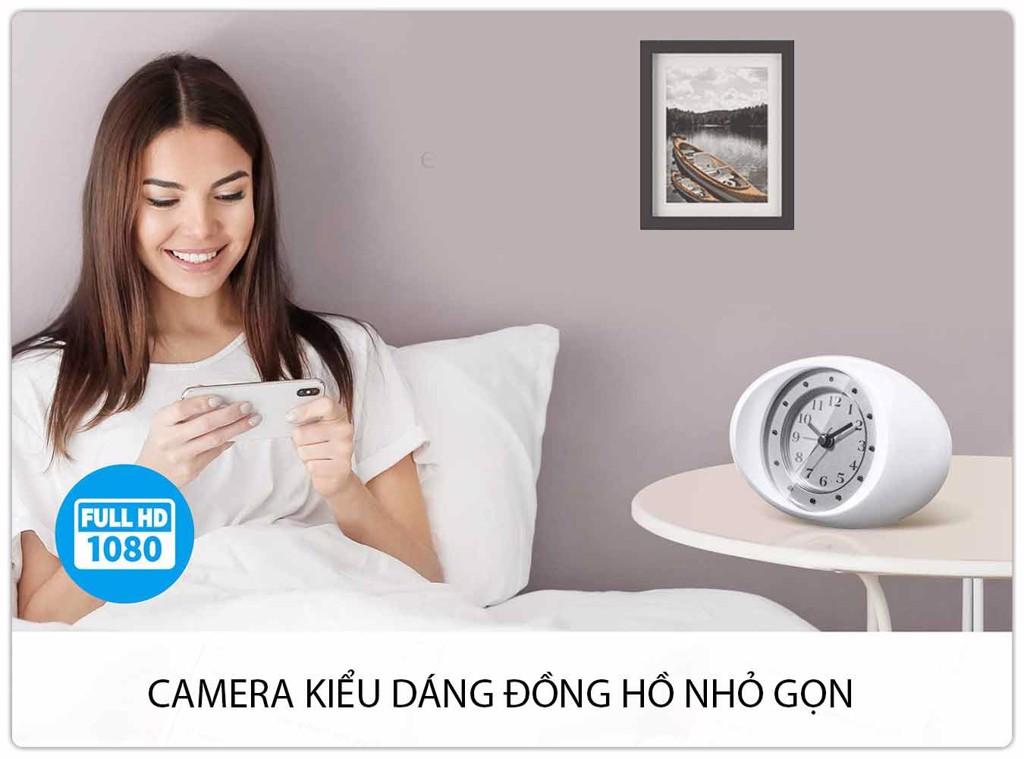 Camera IPC1080 2.0Mp Quan Sát Bí Mật Kiểu Đồng Hồ Ngụy Trang