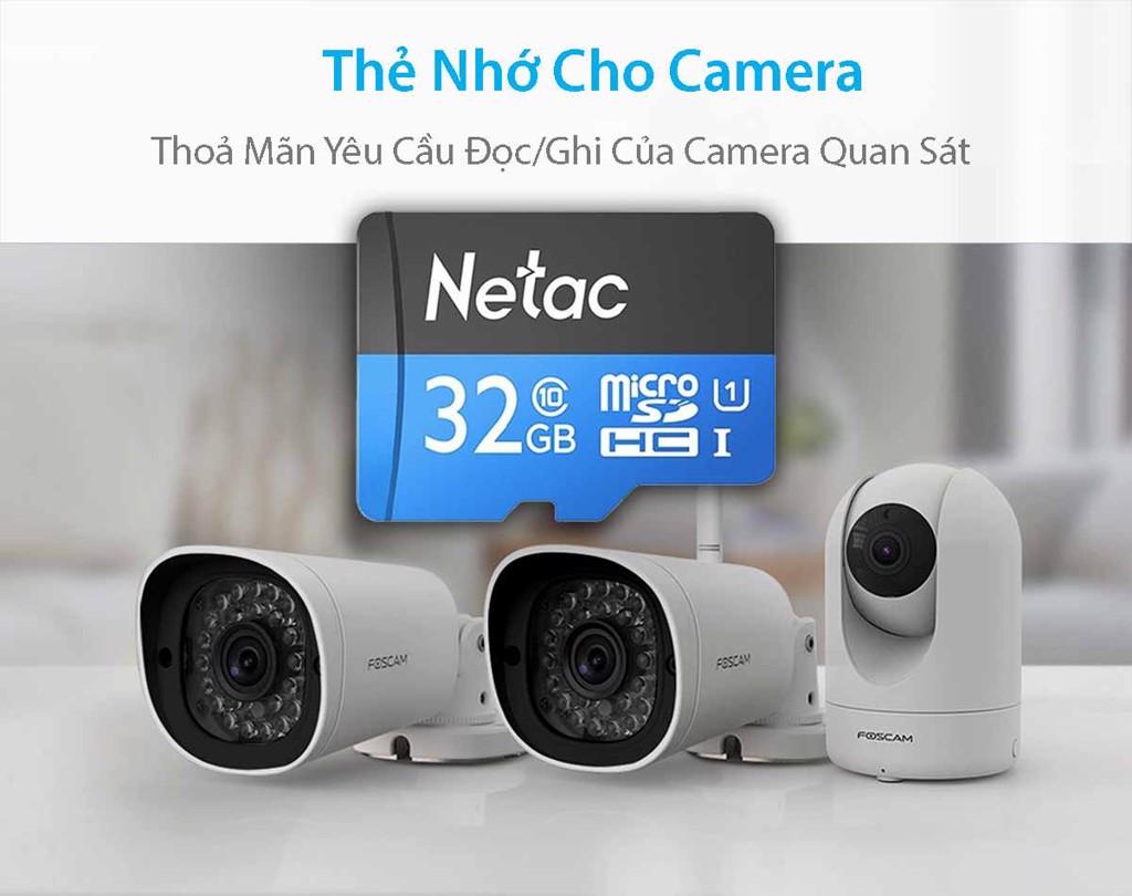 Thẻ Nhớ 32GB Class 10 chính hãng Netac dùng cho camera