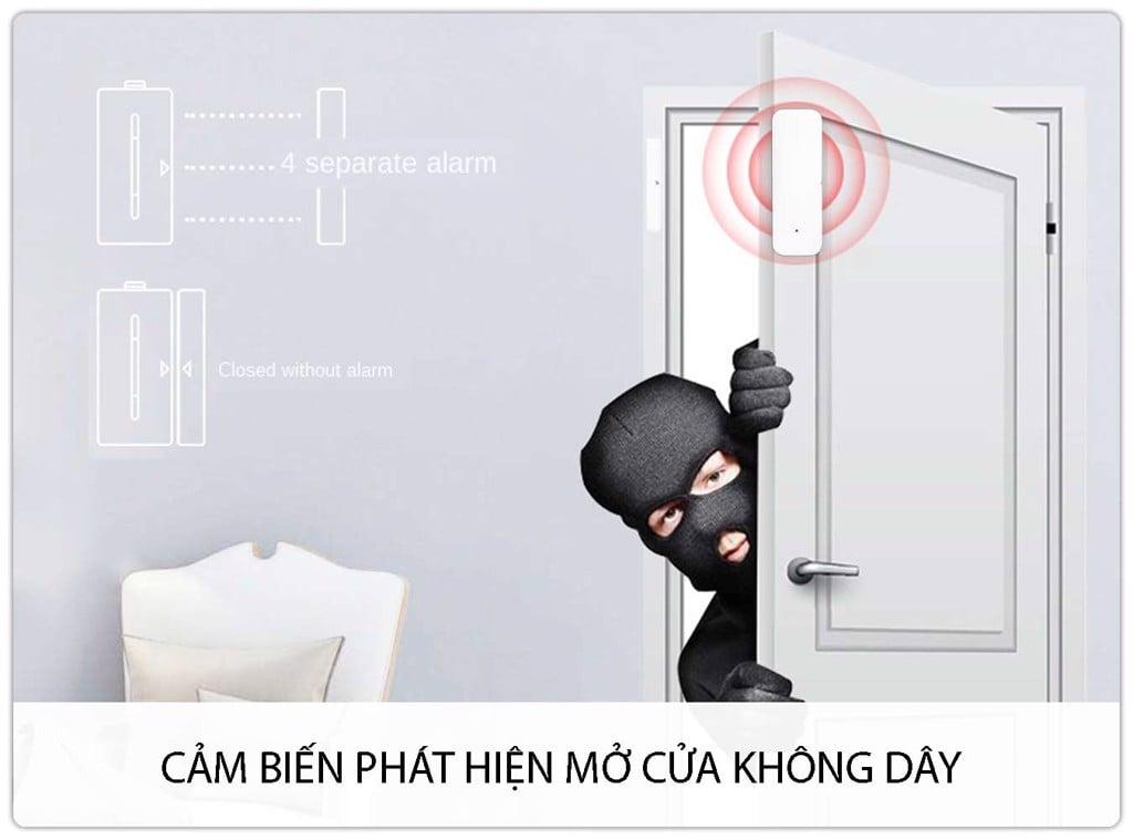 Bộ Thiết Bị Chống Trộm Dùng SIM + WIFI GP05W Báo Qua Điện Thoại