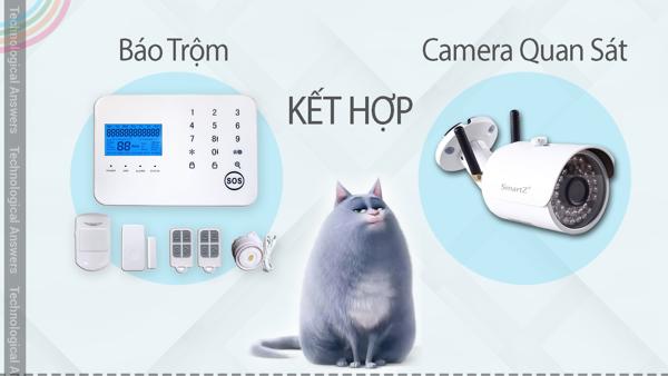 Kết hợp Camera quan sát và thiết bị báo động chống trộm