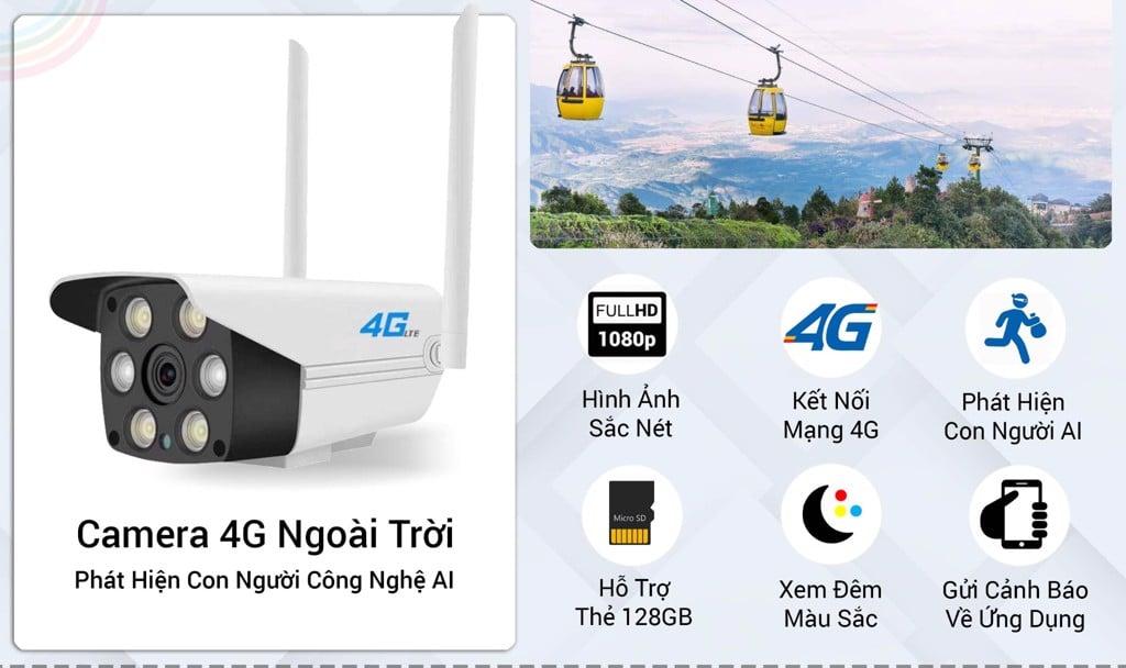 Camera 4G Ngoài Trời SmartZ IS10 Phát Hiện Con Người Thông Minh
