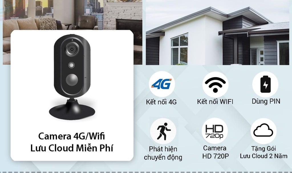 Camera 4G/Wifi SmartZ IS05-4G Tặng Gói Lưu Cloud 2 Năm