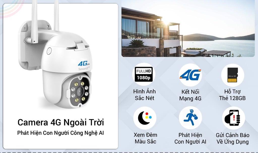 Camera 4G Ngoài trời Speed Dome thông minh