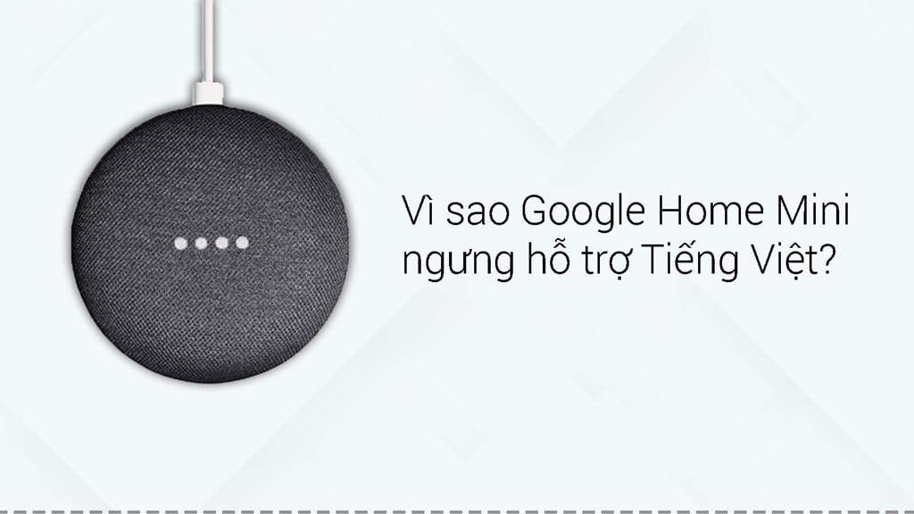 Vì sao Google Home Mini ngừng hỗ trợ Tiếng Việt?