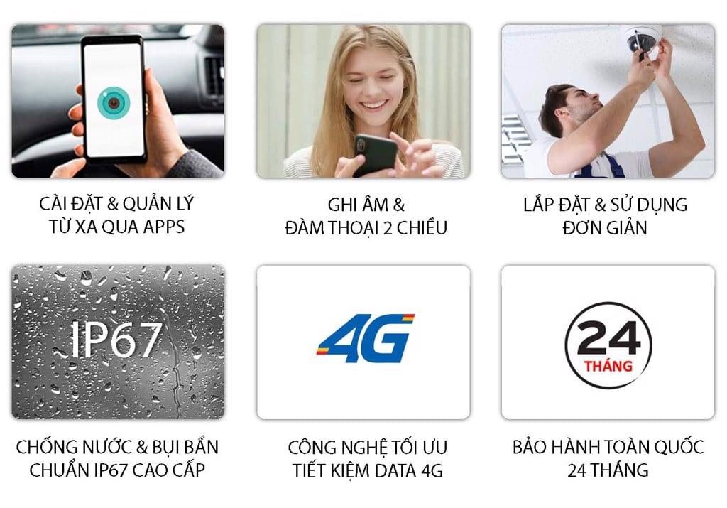 Camera 4G Ngoài Trời giá rẻ