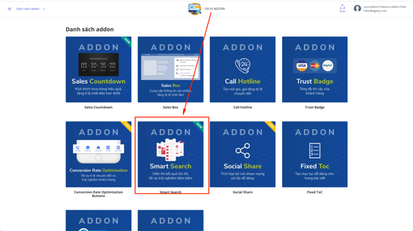 UX/UI Addon - Ra mắt addon Smart Search