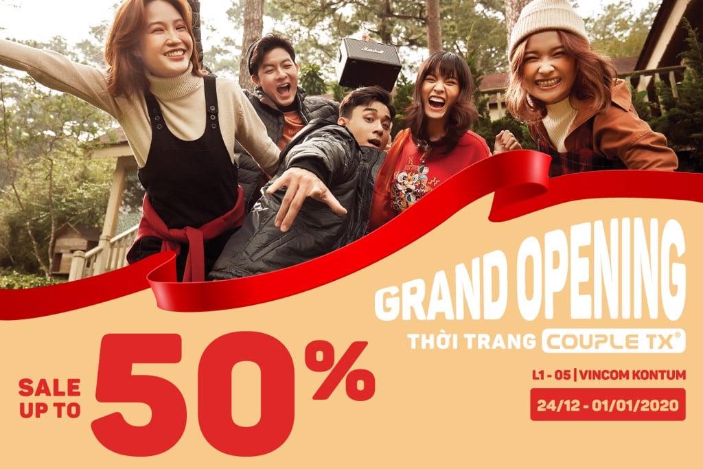 COUPLE TX KHAI TRƯƠNG CỬA HÀNG VINCOM KON TUM | GIẢM GIÁ LÊN ĐẾN 50% ++