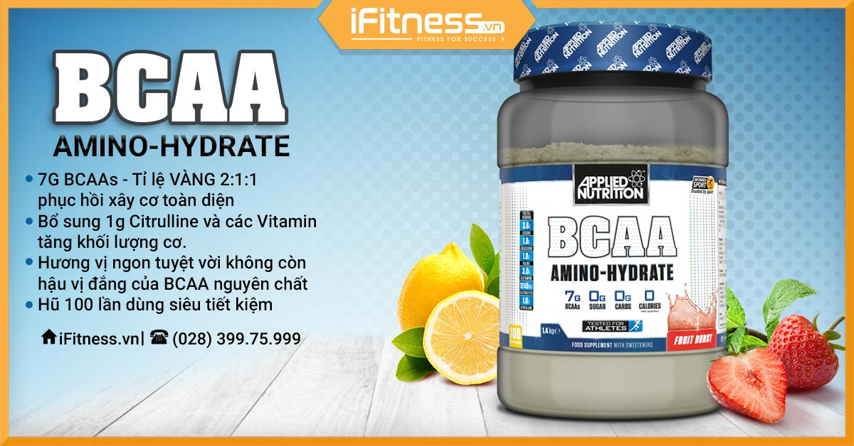 applied nutrition bcaa amino hydrate 1400g