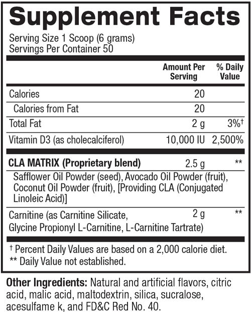 cla plus carnitine nutrition facts