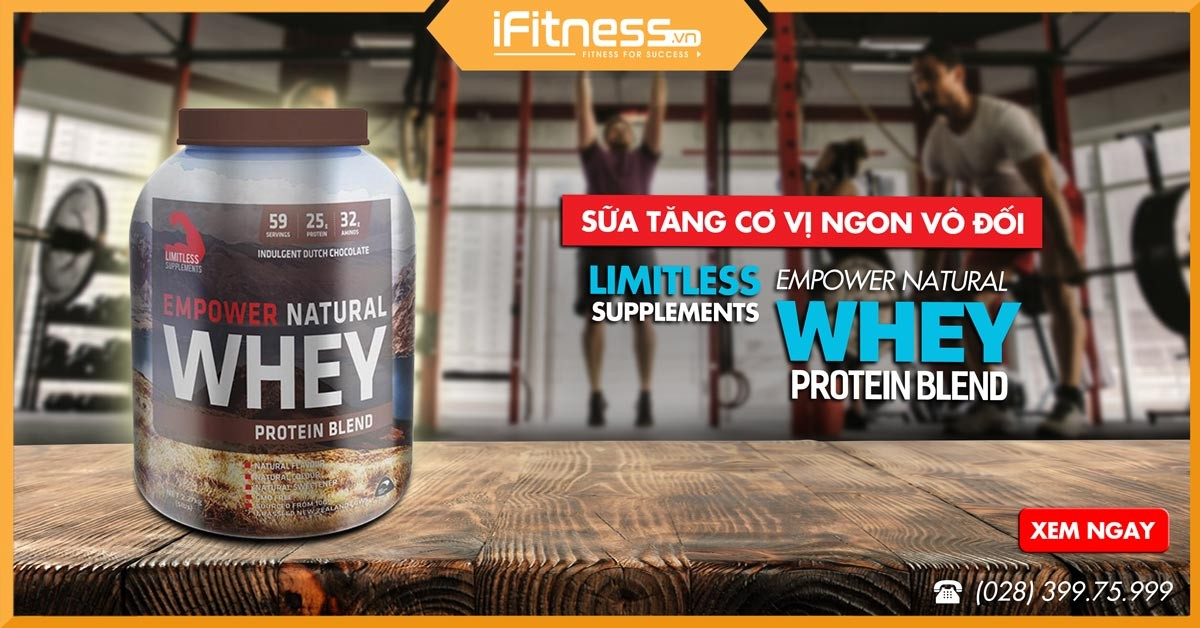 sua tang co empower natural whey protein blend 1kg