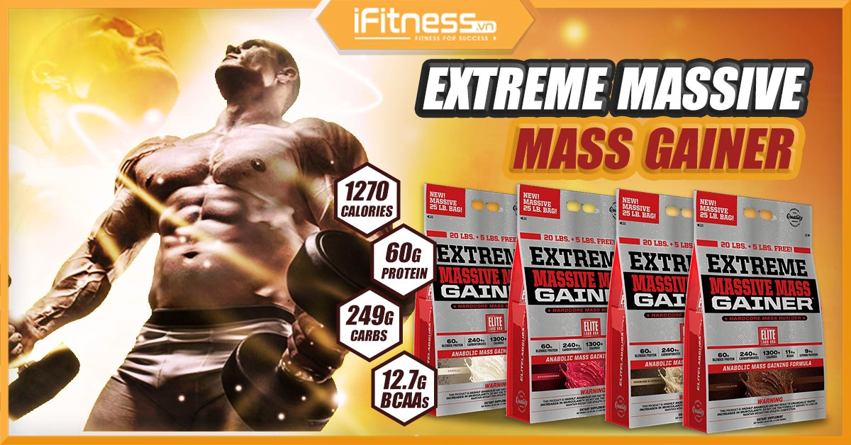 extreme massive mass gainer 25lbs banner