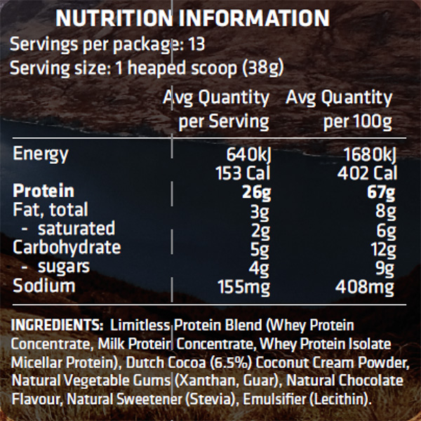 EMPOWER NATURAL WHEY 500g facts