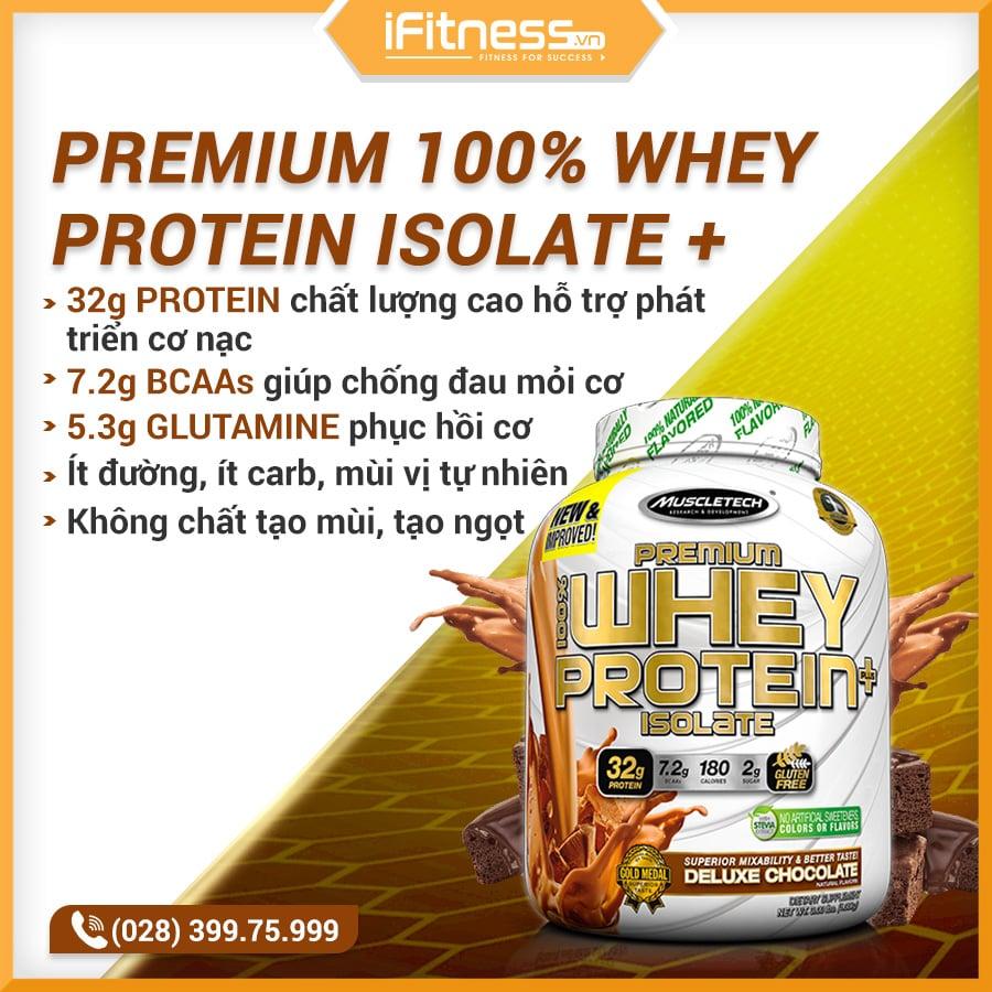 Sữa Tăng Cơ MuscleTech Premium 100% Isolate Plus
