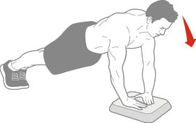 Hands on box Diamond Push-up