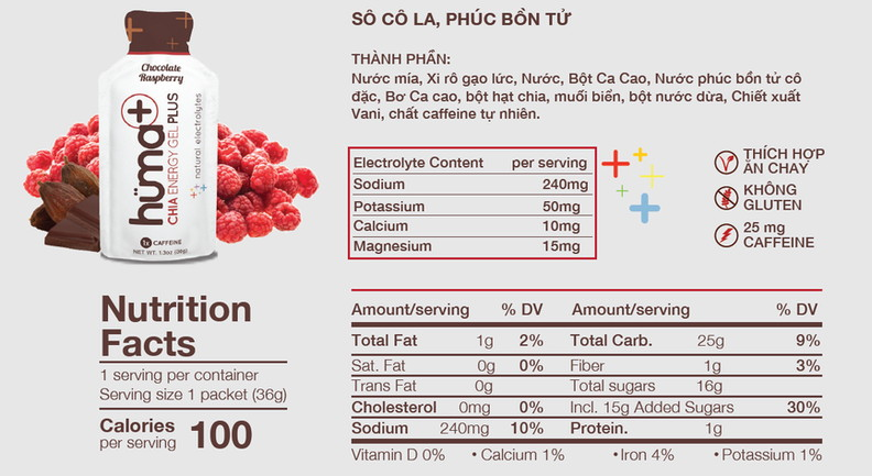 huma plus chocolate raspberry nutrition