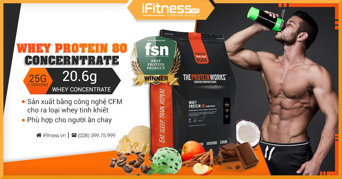 The Protein Works Whey Protein 80 Concentrate