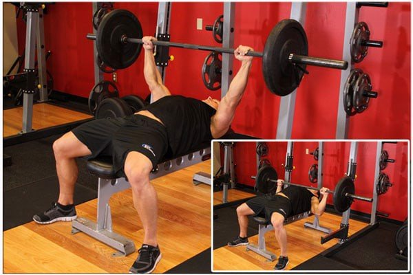 lich tap gym cho nam 6 buoi 1 tuan Barbell Shoulder Press