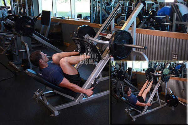 lich tap gym cho nam 6 buoi 1 tuan leg press