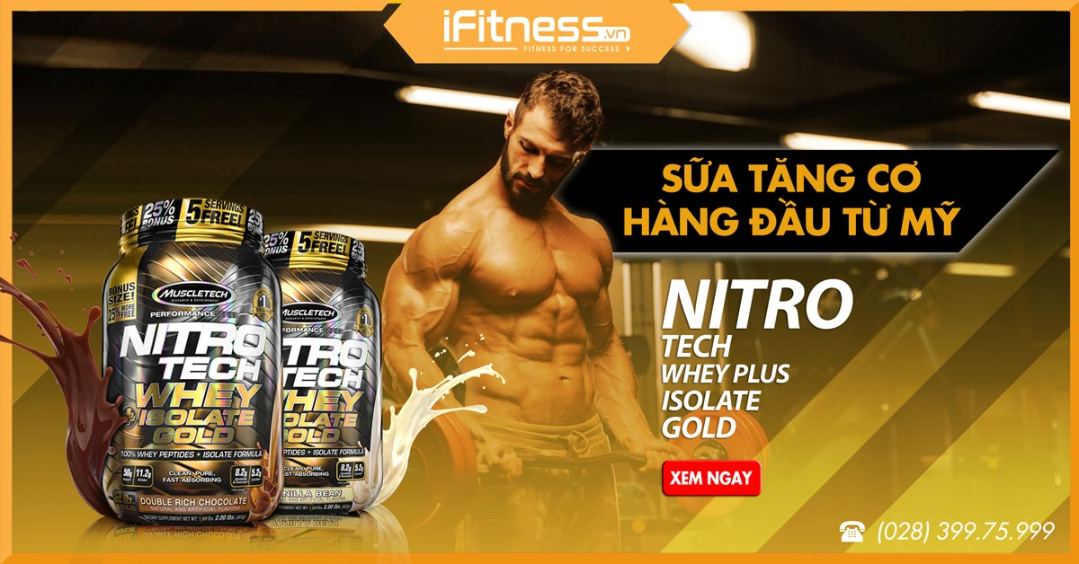 nitrotech whey plus isolate gold 908g