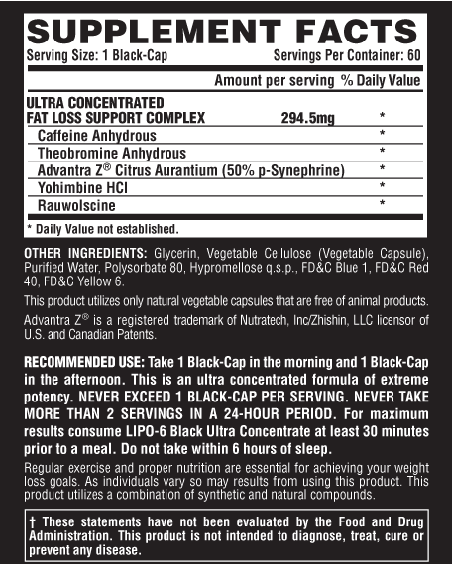 nutrex research labs lipo 6 black ultra concentrate 60 black caps