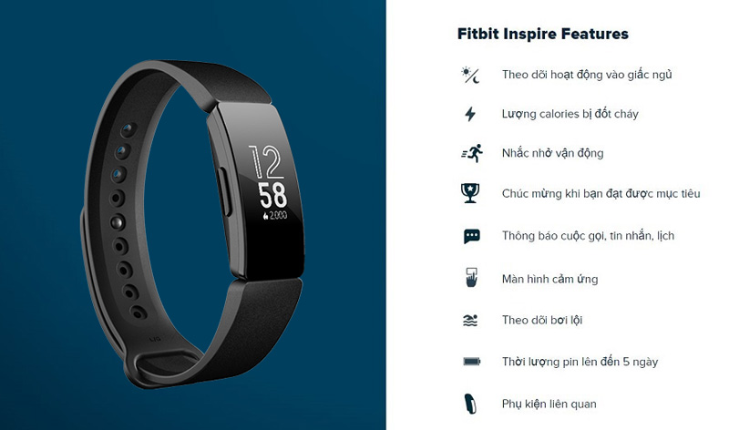 vong deo tay fitbit inspire