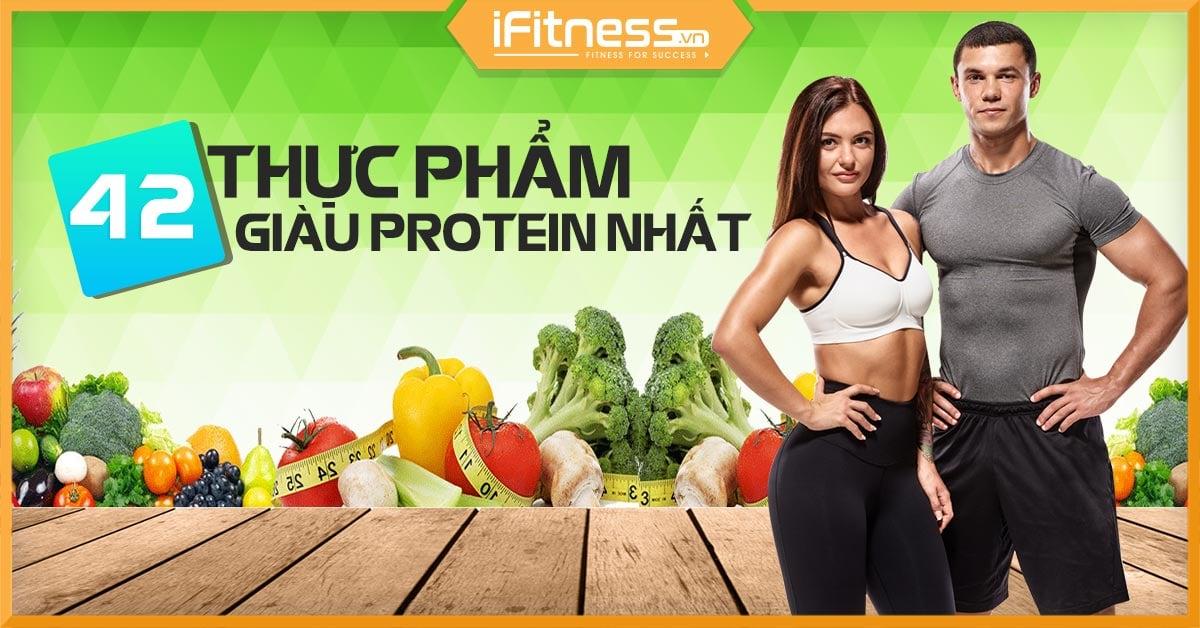 thuc pham giau protein cho nguoi tap gym