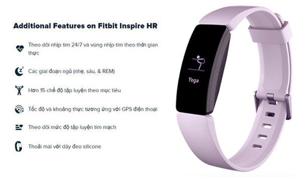 tinh nang fitbit inspire hr
