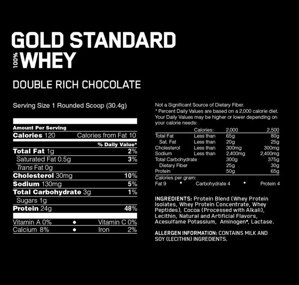 Gold Standard 100% Whey, Double Rich Chocolate
