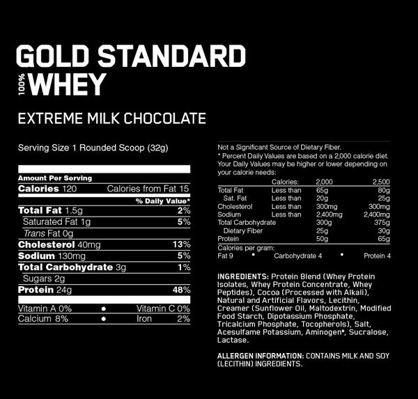 Gold Standard 100% Whey, Extreme Milk Chocolate