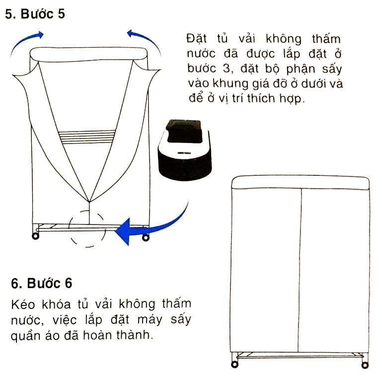 Hướng dẫn lắp ráp tủ sấy Kungfu KF CD900