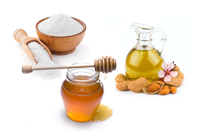 Mặt nạ từ mật ong, muối biển và dầu hạnh nhân chữa lành tổn thương da và se khít lỗ chân lông