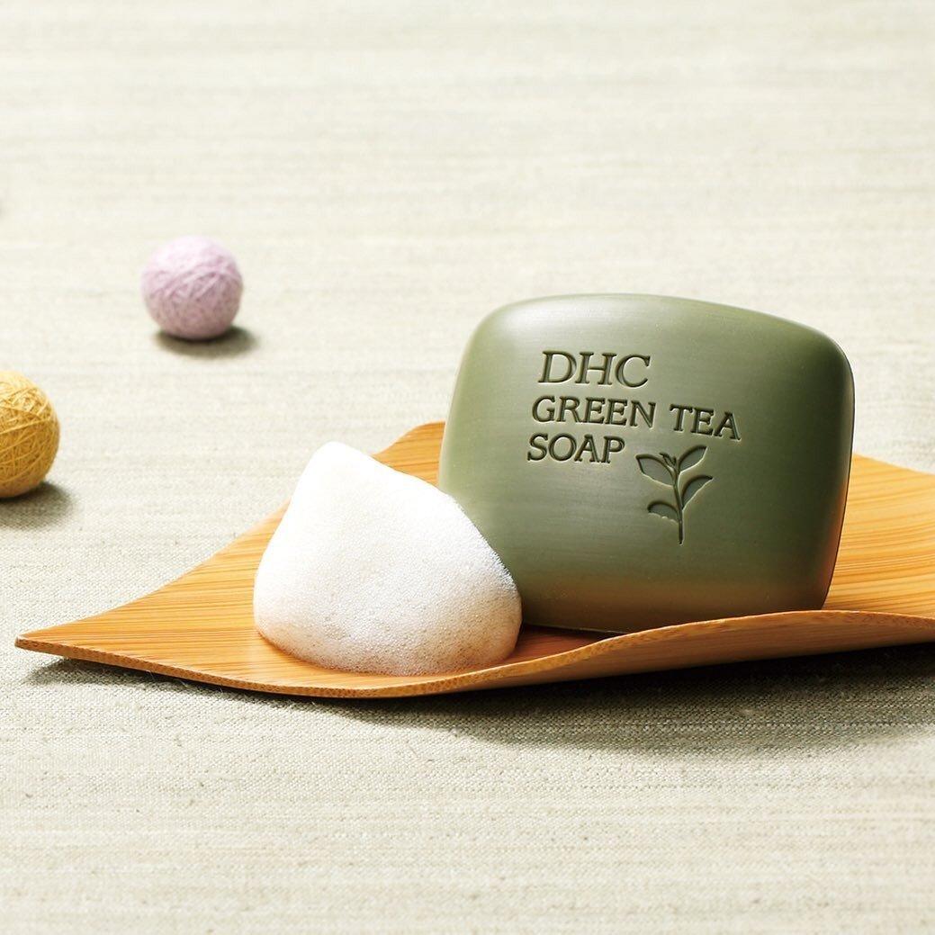 Xà bông rửa mặt trà xanh DHC Green Tea Soap DHC Việt Nam