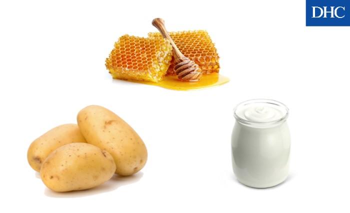 Mặt nạ sữa chua mật ong và khoai tây có khả năng dưỡng trắng da không đều màu rất tốt