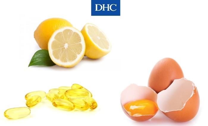 Mặt nạ vitamin E cùng trứng gà, chanh giúp làm sạch và se khít lỗ chân lông
