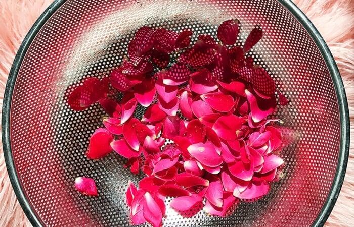 Xông hơi da mặt bằng cánh hoa hồng giúp kích thích sản sinh collagen cho da mềm mịn