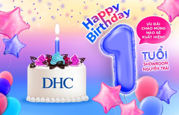 Khuyến mãi sinh nhật tròn 1 tuổi showroom DHC Việt Nam