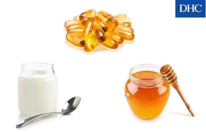 Kết hợp sữa chua, mật ong và vitamin E để chăm sóc da không bị lão hóa sớm
